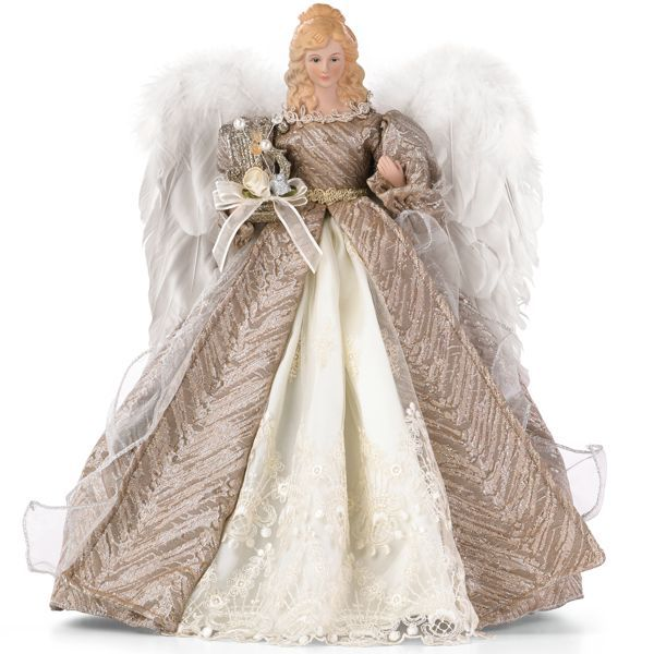 Silver Elegance Angel Tree Topper By Lenox:
