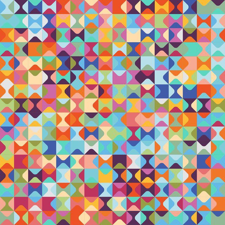 amp 187 geometric multicoloured triangles - photo #33