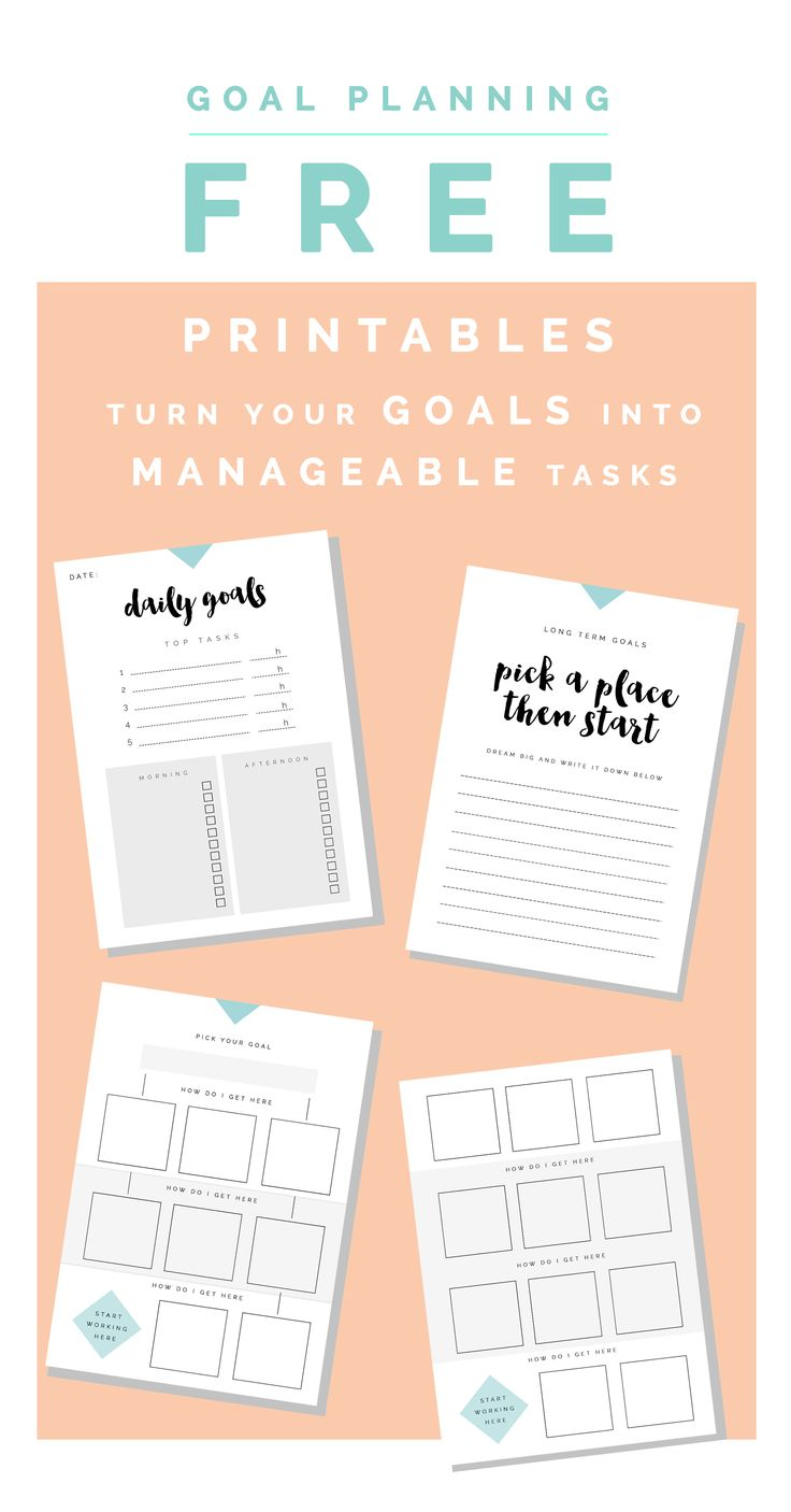 Goal Planning Free Printables | Fall For DIY Perfect for organizing your blog, business, wedding, Christmas, party planning and other activities!