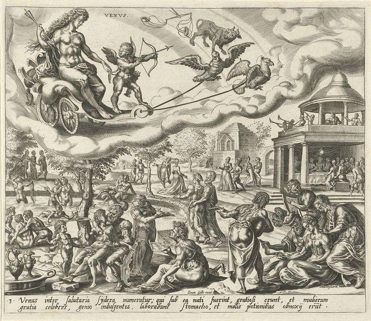 De planeet Venus en haar kinderen, Harmen Jansz Muller, Joannes Galle, 1566 - 1570