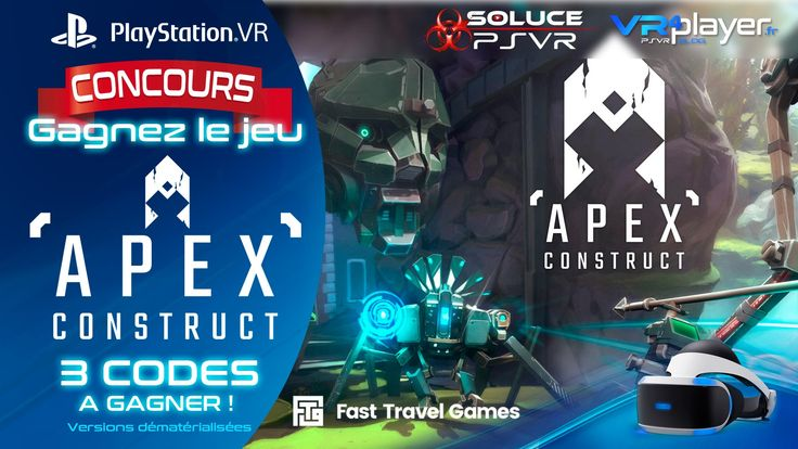 #PlayStationVR #PSVR  #RealiteVirtuelle #VR PlayStation VR : Concours, 3 Jeux PSVR APEX CONSTRUCT à Gagner https://www.vrplayer.fr/playstation-vr-concours-apex-construct/