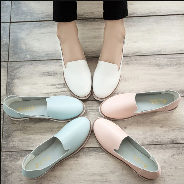 Hot! 2015 Lente Nieuwe Straat Korea Little Witte Schoenen Mode Wind Platte Schoenen Platte vrouwen Schoenen Voor Vrouwen Dames Meisjes
