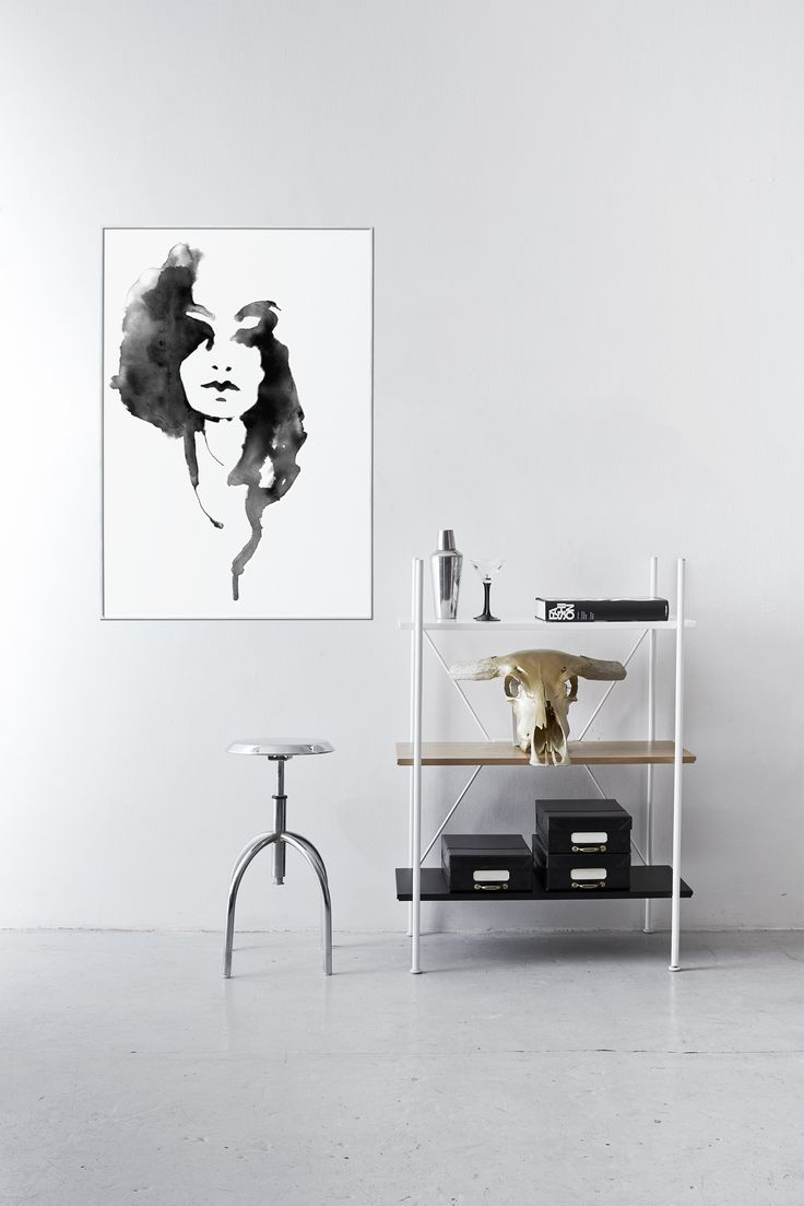 The placement of Lady Lovely on the poster is essential. The white space surrounds and absorbs her in a raw industrial look. See all the illustrations at www.paradisco-productions.com #poster #illustration #print #artwork #design #interiordesign #inspiration #fashion