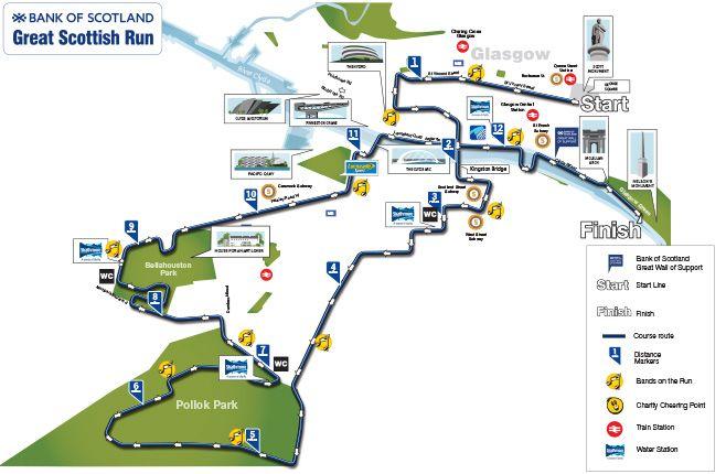 Bos Great Scottish Run 2016 Half Marathon Course Map