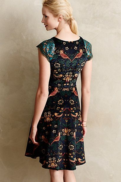 FInally something at Anthropologie after a long dry spell. I love the birds touching tails on the back. Larksong Corduroy Dress - anthropologie.com