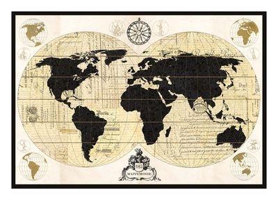 The 16 best map images on pinterest art prints art impressions vintage world map canvas art devon ross x gumiabroncs Image collections