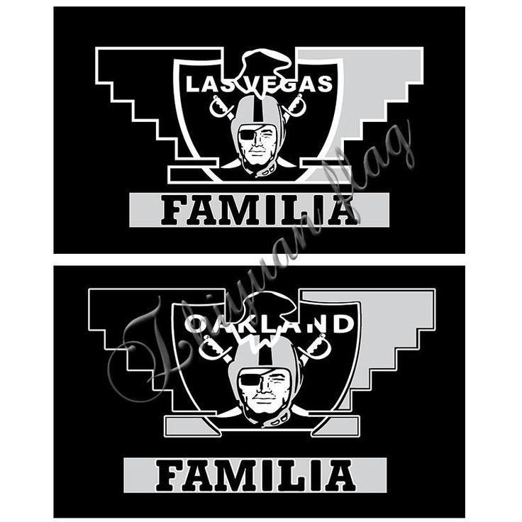 (Las Vegas Raiders) Oakland Raiders Banner Flag Very Cool Decoration 3ft X 5ft World Series Oakland Raiders Flag