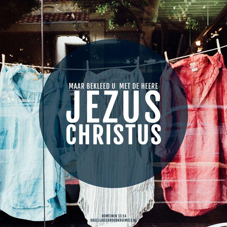 Maar bekleed u met de Heere Jezus Christus. Romeinen 13:14  #Christus, #Jezus  https://www.dagelijksebroodkruimels.nl/romeinen-13-14/