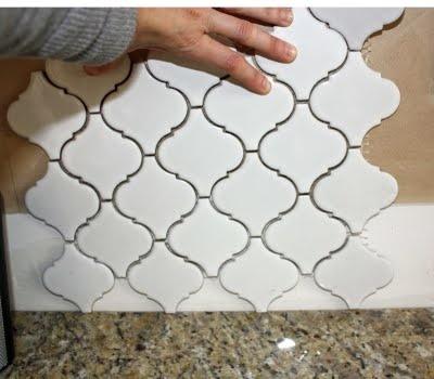 "I thought I did not want a backsplash until I found this: Merola Tile, ""Lantern."""