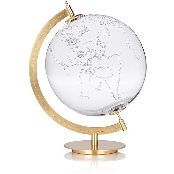 Secondome MOD. GROUND Map Globe found on Polyvore featuring home, home decor, decor, colorless, constellation globe, modern home decor, modern home accessories, mod home decor and map globe