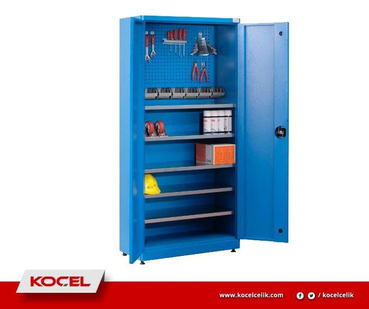 Sağlam çelik 0,80mm sac konstrüksiyondan üretilen malzeme dolalarımızla işletmenizin her alanında depolama yapabilirsiniz.