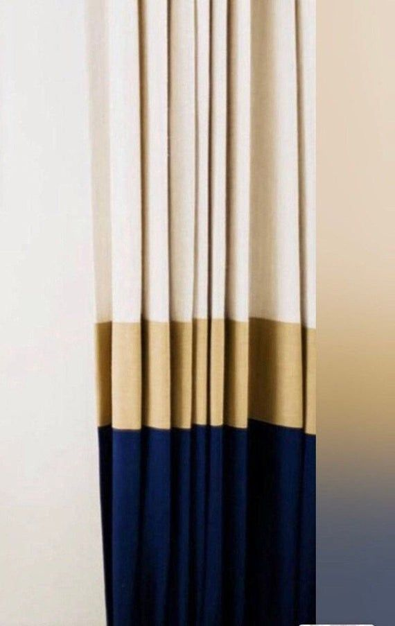 Choose Your Own Colors For A Pair Of Pleated Color Block Linen