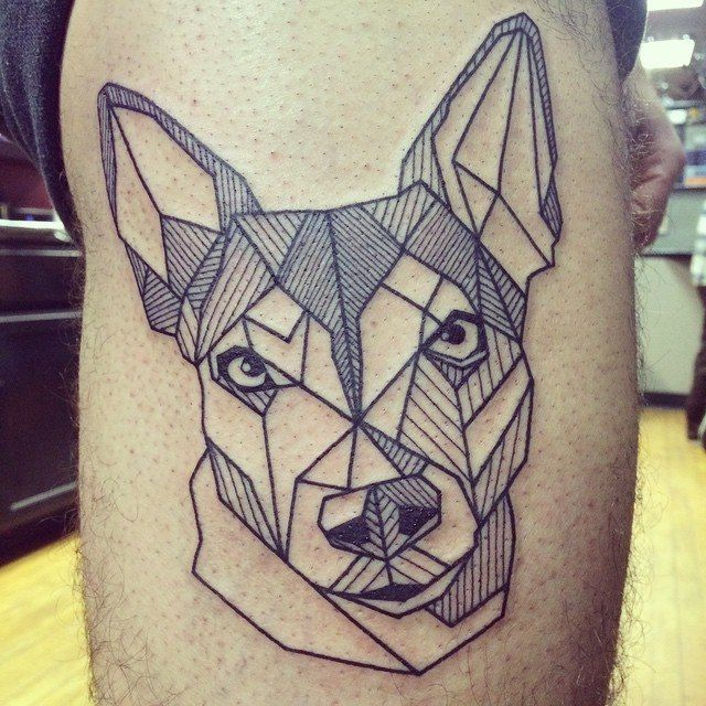 Love this style. I may have to get Peeg immortalized on my skin someday....