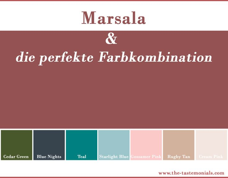 Marsala & the perfect mix of colors