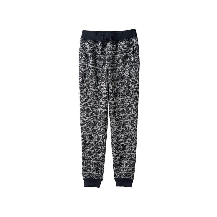 Boys 8-20 Hollywood Jeans Sweater-Print Fleece Jogger Pants, Boy's, Size: M(10-12), Black
