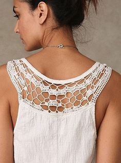 Free People has a terrific cotton romper with crochet back detail and crochet straps
