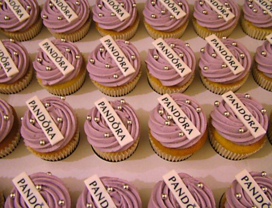 Branded cupcakes are a great idea for company events, check out these cute  ones for Pandora by Moonfruiters Truly Treats. Do you offer a  corporate-baking ...