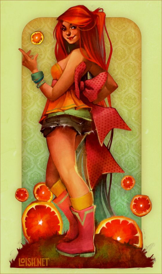 ginger citrus  by `loish  Digital Art / Paintings & Airbrushing / People / Pin-up©2009-2012 `loish