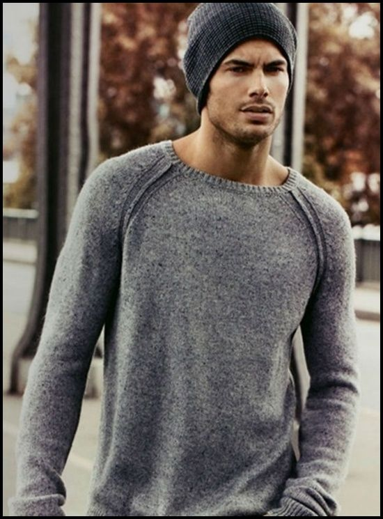 Winter Outfits MEN | 60 Exclusive Mens Winter Fashion Ideas | Fashion *Simple beanie along with simple and generic sweater (both grey/dark grey/medium grey).: