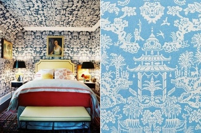 Brunschwig & Fils's Lhasa (plus other iconic wallpapers)