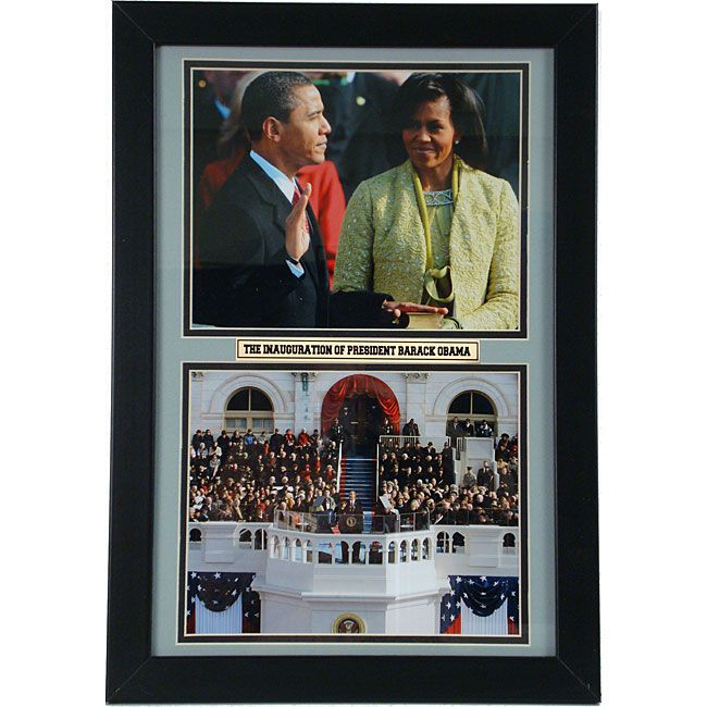 Encore Select Barack and Michelle 12x18 Framed Double Print