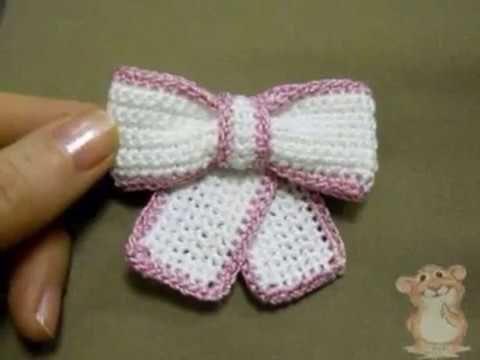 Como hacer lazos tejidos a crochet - YouTube