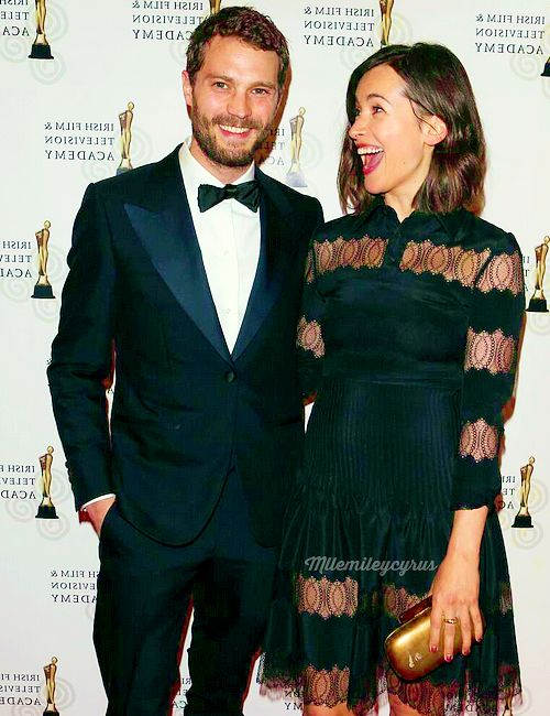 """mllemileycyrus:  2014 : APRIL 5, """"Amelia you are the best thing ever happened to me """".— Jamie Dornan acceptance speech at IFTA 2014."""