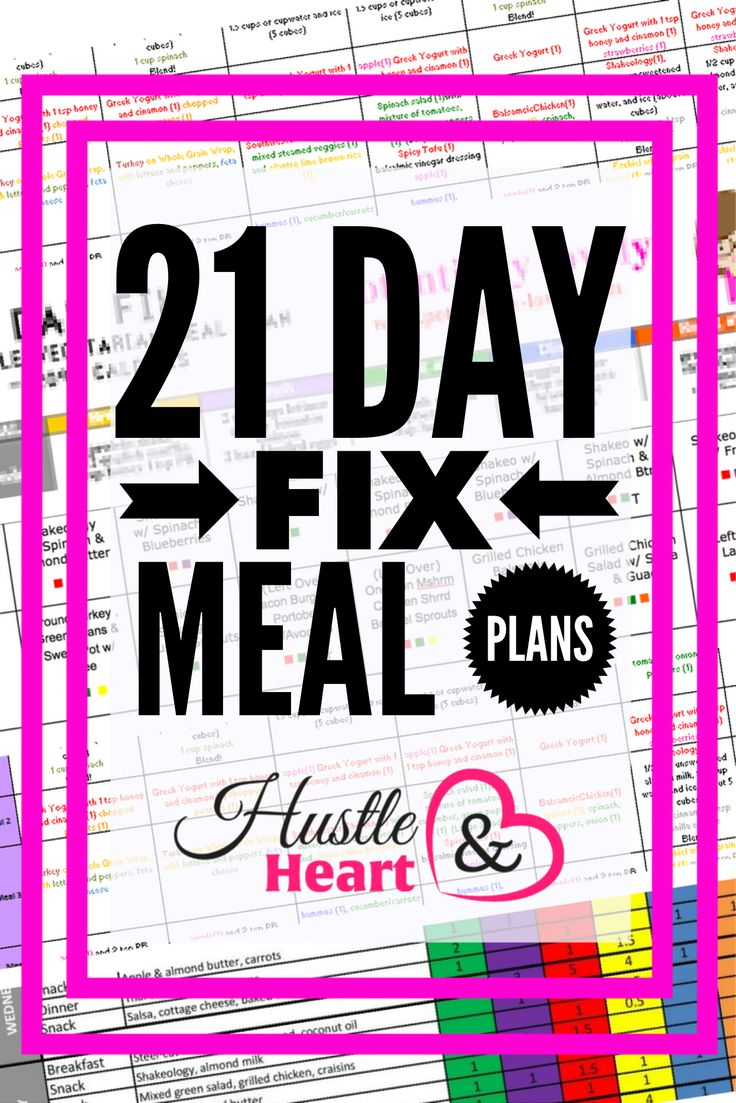 21 Day Fix Meal Plans You'll Love