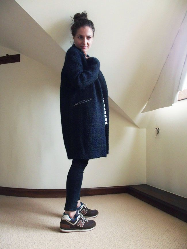 New Balance 574 Zara Coat Uk Fashion Blog Stylonylon Daily Outfit Ideas Pinterest