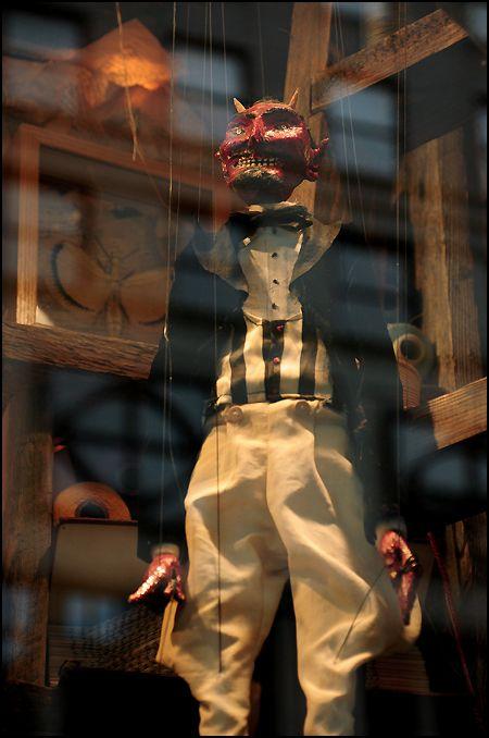 goodman puppet for sale. erik sanko, devil marionette at bergdorf goodman, goodman puppet for sale h