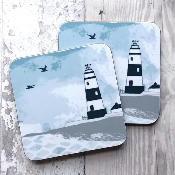 Lighthouse coaster drinks coaster lighthouse gift mat