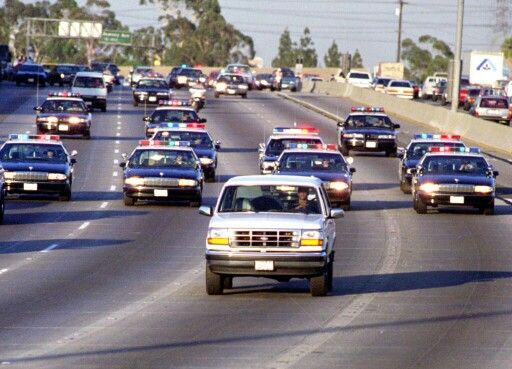OJ being chased by LAPD