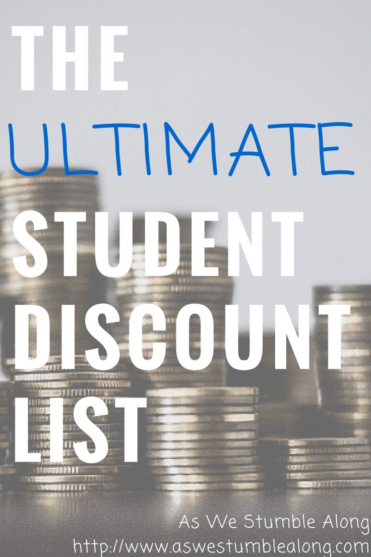 The ultimate list of student discounts! Apparel, travel, technology, dining…