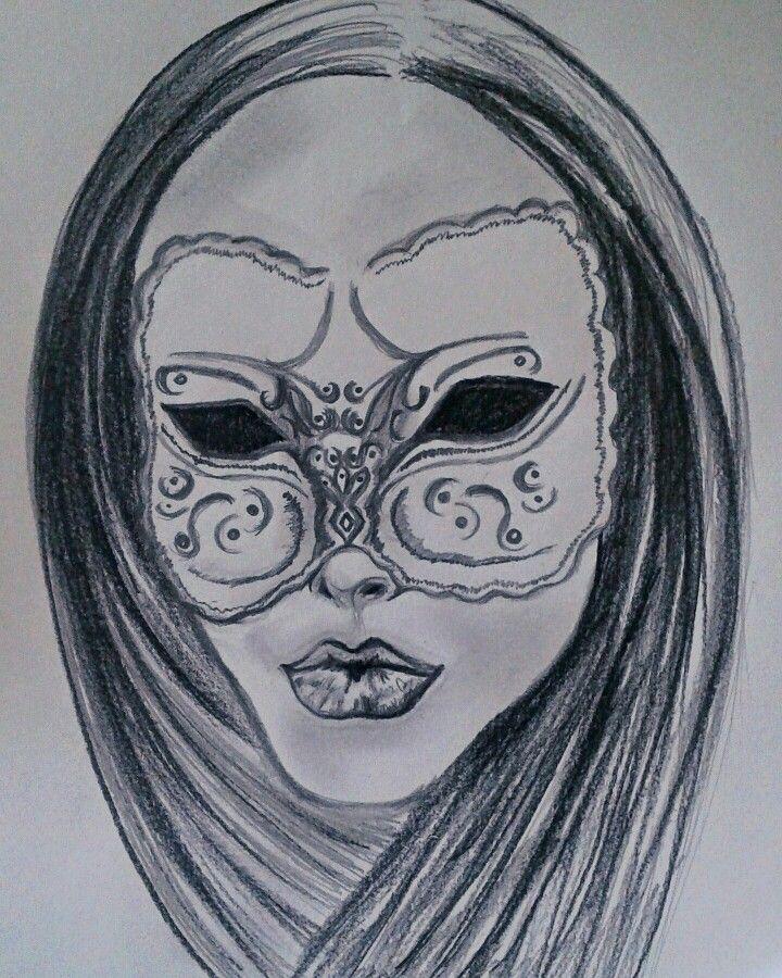 Masquerade!  Personal drawing, Barbara Scott
