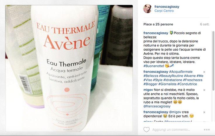 Beauty routine over 30/ Acqua termale di Avène