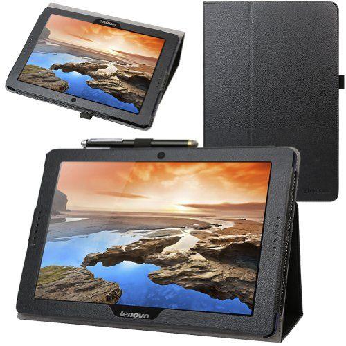 Evecase housse étui en cuir de protection avec support Pour Lenovo Tablette: Cuir Synthétique de haute-qualité permet une meilleur…