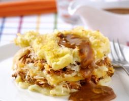 Zuurkoolschotel met appel, gehakt en jachtsaus | Knorr