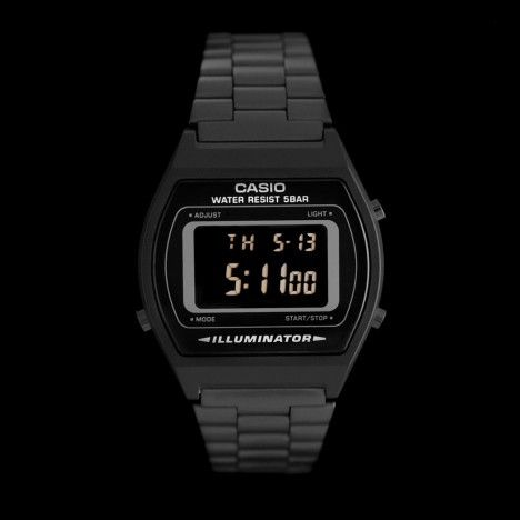 casio b640wb 1bef montre casio noire r tro futuriste black b640 le temps pinterest. Black Bedroom Furniture Sets. Home Design Ideas