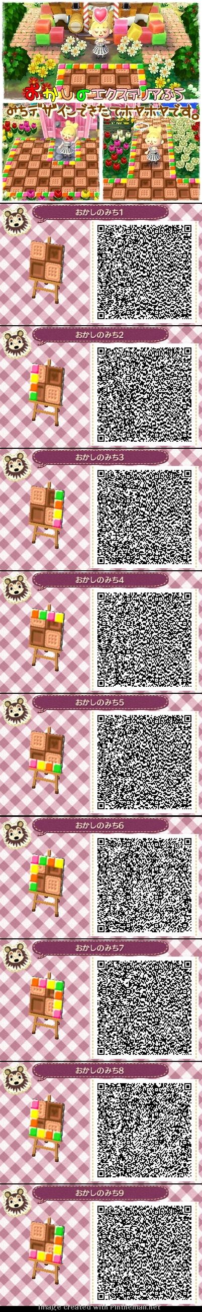 Animal Crossing New Leaf QR codes sweets pathway