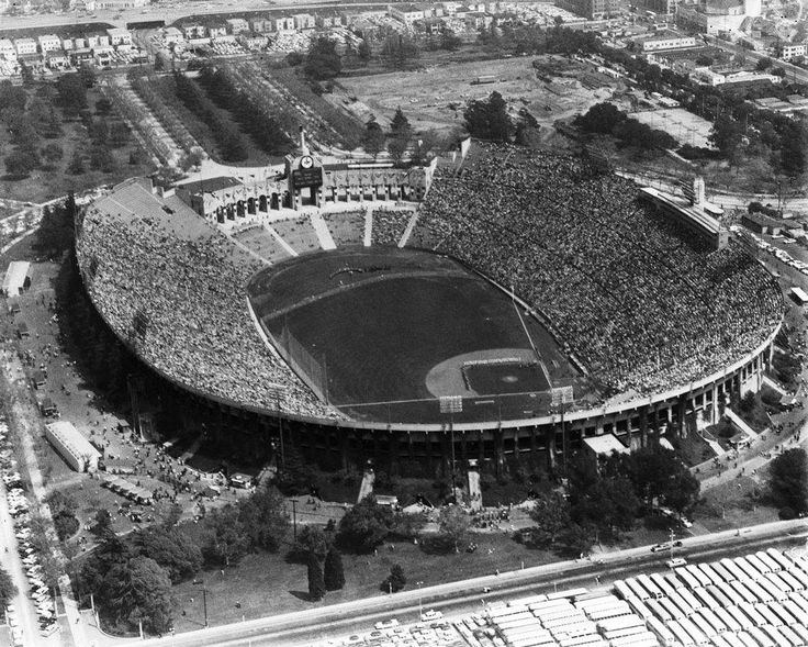 Los Angeles Dodgers Opening Day at the LA Coliseum in 1958