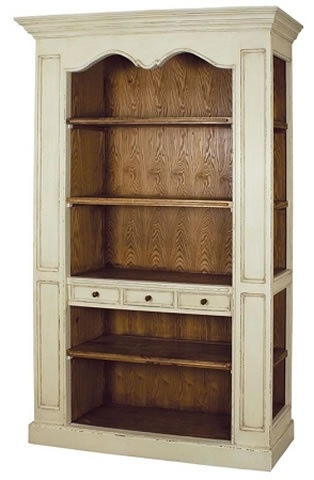 Bordeaux Large Distressed Cream Painted Tall Bookcase