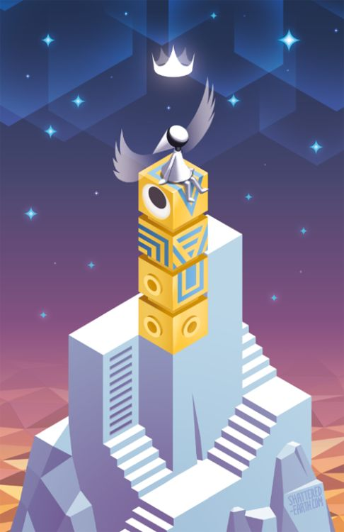 Monument Valley iOS / Android game art print — From https://twitter.com/GonElric1 via Twitter