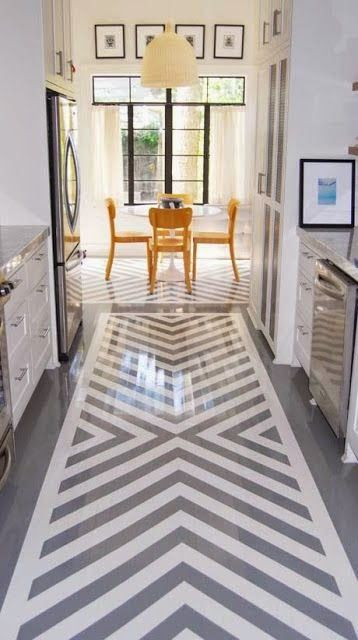 painted floors   via SHELTER  (Could we do this in foyer and intersect into hallway in perpendicular direction?)