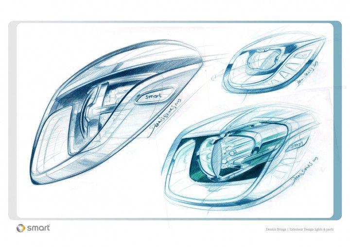 Smart Forjoy Concept Headlight design sketches