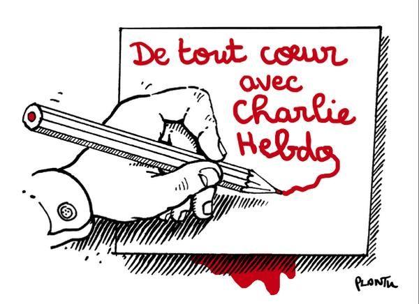 Hommage aux victimes de Charlie Hebdo.