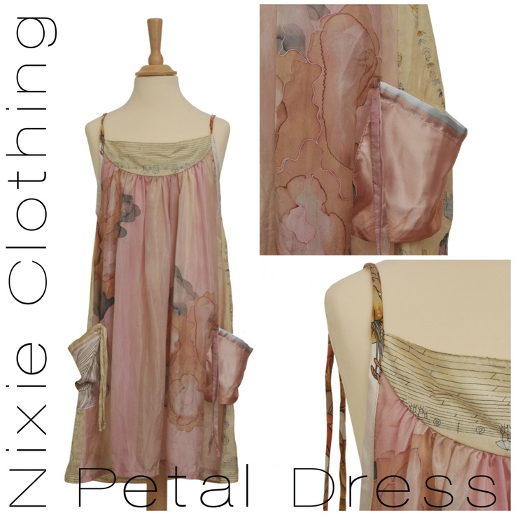 It's all in the details. Created from luxurious heritage silk scarves, each one of these 100% silk dresses is as unique as a flower. Get your own piece of Nixie couture:  http://shop.nixieclothing.com/67-petal-dress #NixieClothing #KidsFashion