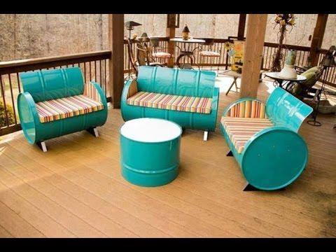 Wow Kereeen...!! Aneka Furniture Keren dari Bahan Drum Bekas