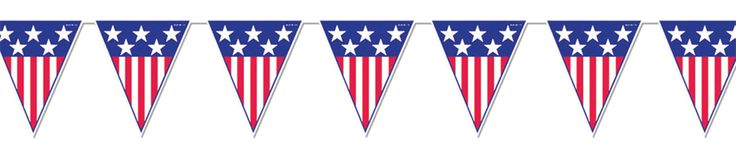 Awesome Halloween Props, Decor & Novelties Spirit Of America Pennant Banner just added...