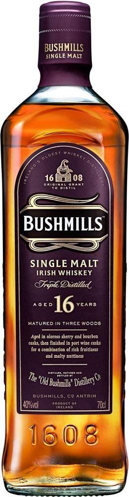 Bushmills 16 Year Old Single Malt Irish Whiskey | @Caskers