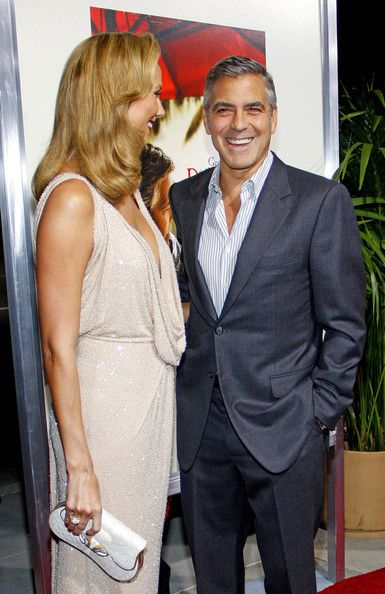 """George Clooney and Stacy Keibler at the Los Angeles Premiere of """"The Descendants"""" held at the AMPAS Samuel Goldwyn Theater, Los Angeles. - 5 of 7"""